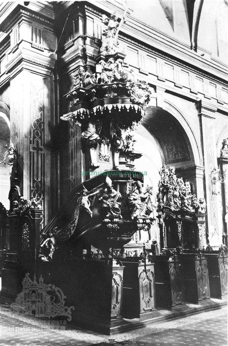 Амвон Колегіати. Біля 1737 р.   artmuseum.org.ua